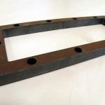 Corte integro en chapa ARMOX500 para protección balística. 15 mm. de espesor