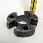 rinquete en chapa 355J2G3 espesor 12 mm. Carbonitrurado posterior